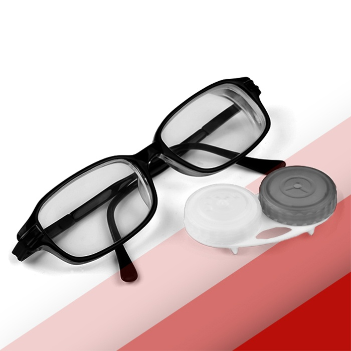 Photo of Glasses and Contact Lenses